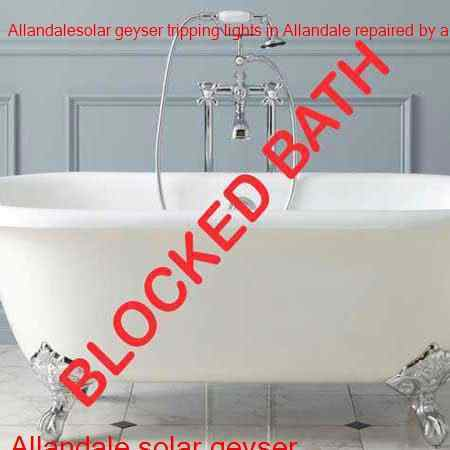 Allandale blocked bath unclogged with latest equipment in Allandale and surrounding areas of Midrand all hours of the night and day.