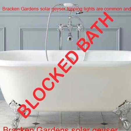 Bracken Gardens blocked bath