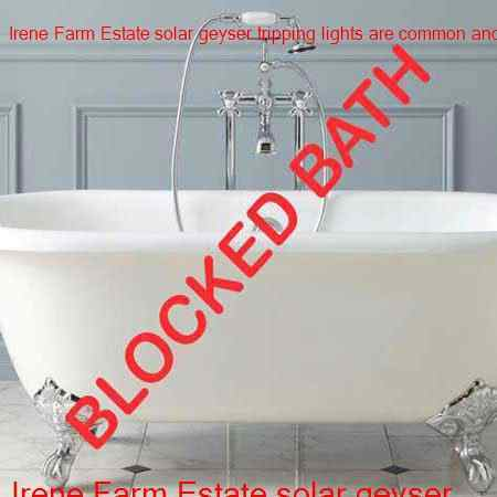 Irene Farm Estate blocked bath