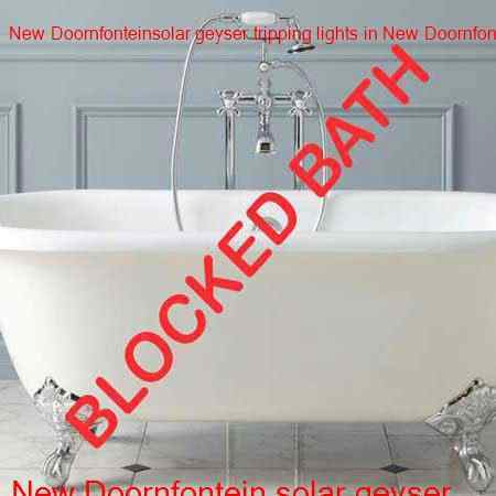 New Doornfontein blocked bath