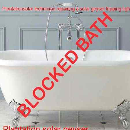 Plantation blocked bath
