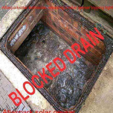 Atlaspark blocked drain cleaned with latest equipment by certified plumbers offering a free call out fee in Boksburg.