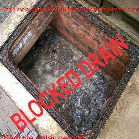 Badirile blocked drain cleaned with latest equipment by certified plumbers offering a free call out fee in Randfontein.