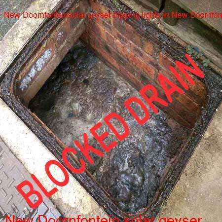 New Doornfontein blocked drain