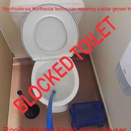 Rooihuiskraal North clogged toilet