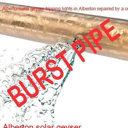Alberton burst pipe