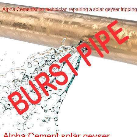 Alpha Cement burst pipe