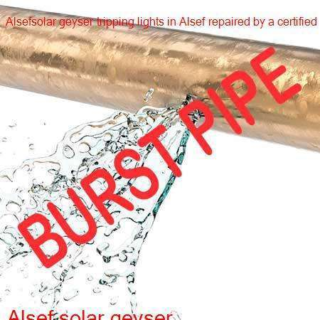 Alsef burst pipe