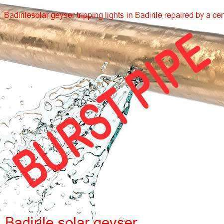 Badirile burst pipe