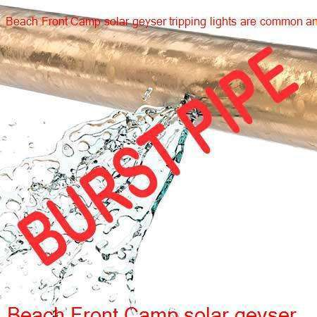 Beach Front Camp burst pipe