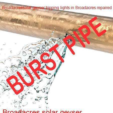 Broadacres burst pipe