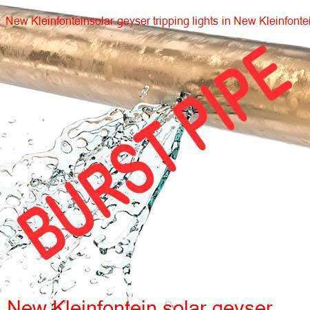 New Kleinfontein burst pipe