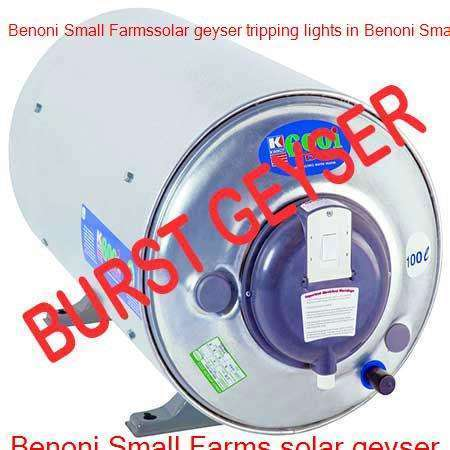 Benoni Small Farms burst geyser