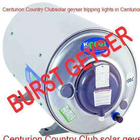 Centurion Country Club burst geyser