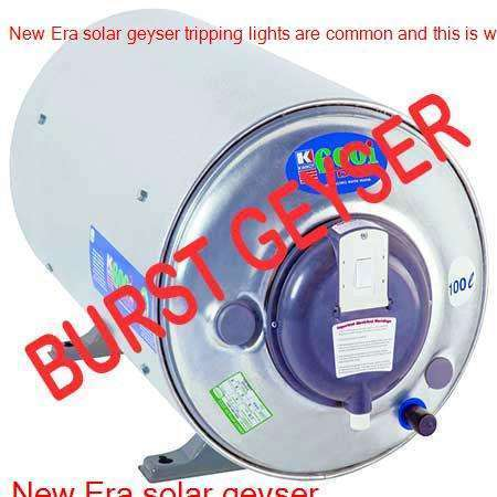 New Era burst geyser