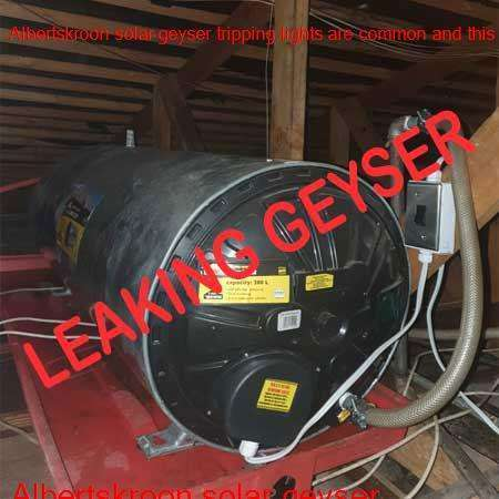 Albertskroon leaking geyser replaced or repaired any time of the day or night by qualified plumbers in the Johannesburg area.