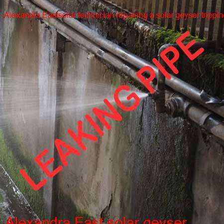 Alexandra East leaking pipe