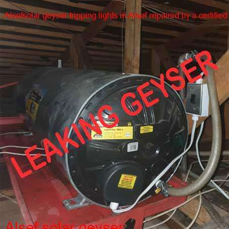 Alsef leaking geyser replaced or repaired any time of the day or night by qualified plumbers in the Roodepoort area.