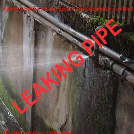 Alsef leaking pipe