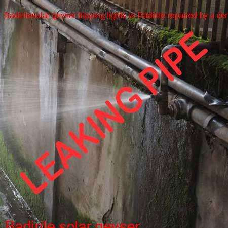Badirile leaking pipe