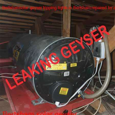 Bertsham leaking geyser replaced or repaired any time of the day or night by qualified plumbers in the Johannesburg area.