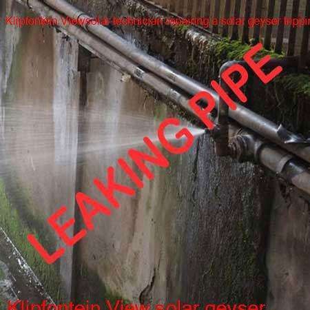 Klipfontein View leaking pipe