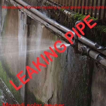 Mnandi leaking pipe