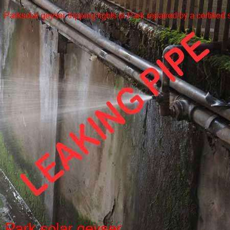 Park leaking pipe