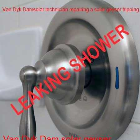 Van Dyk Dam leaking shower