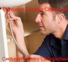 Plumber working in the Centurion Country Club area