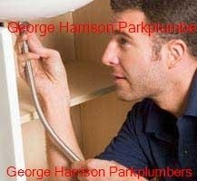 Plumber working in the George Harrison Park area