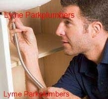 Plumber working in the Lyme Park area