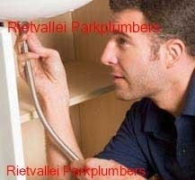 Plumber working in the Rietvallei Park area