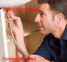 Plumber working in the Springs area
