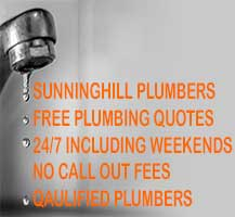 Plumber working in the Sunninghill area