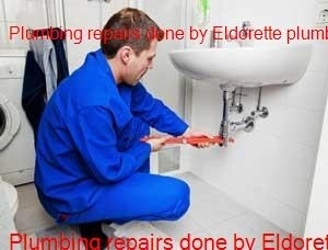 Plumber working in the Eldorette area