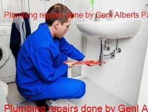 Plumber working in the Genl Alberts Park area