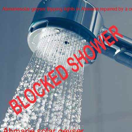 Abmarie blocked shower cleared in no time by certified plumbers in Johannesburg all hours of the night and day in Abmarie.