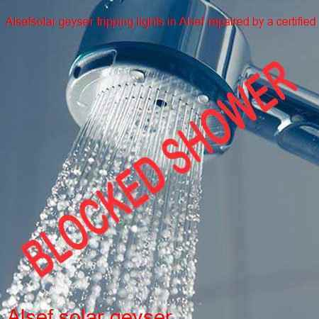 Alsef blocked shower cleaning by Alsef Plumbers with a free quote and call out fee in Roodepoort.