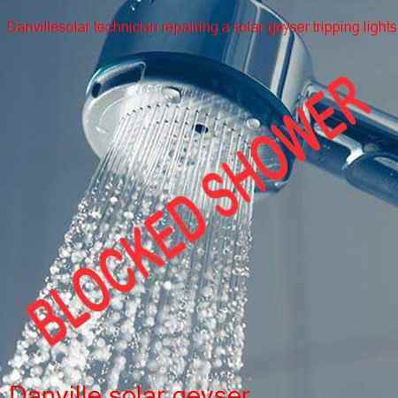 Danville blocked shower