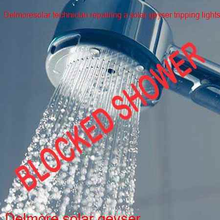 Delmore blocked shower